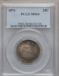 Seated Quarters: , 1876 25C MS64 PCGS. PCGS Population (116/71). NGC Census: (74/71).Mintage: 17,817,150. Numismedia Wsl. Price for problem f...