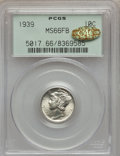 Mercury Dimes, 1939 10C MS66 Full Bands PCGS. Gold CAC. PCGS Population (306/104).NGC Census: (91/38). Mintage: 67,749,320. Numismedia Ws...