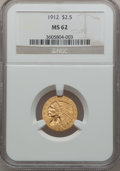 Indian Quarter Eagles: , 1912 $2 1/2 MS62 NGC. NGC Census: (2435/1750). PCGS Population(1048/1286). Mintage: 616,000. Numismedia Wsl. Price for pro...