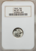 Mercury Dimes: , 1943 10C MS67 Full Bands NGC. NGC Census: (170/1). PCGS Population(206/3). Mintage: 191,710,000. Numismedia Wsl. Price for...