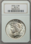 Peace Dollars: , 1928-S $1 MS64 NGC. NGC Census: (1272/39). PCGS Population(1742/47). Mintage: 1,632,000. Numismedia Wsl. Price for problem...