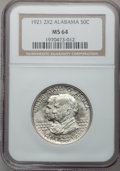 Commemorative Silver: , 1921 50C Alabama 2x2 MS64 NGC. NGC Census: (712/434). PCGSPopulation (739/513). Mintage: 6,006. Numismedia Wsl. Price for ...