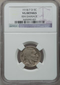 Buffalo Nickels: , 1918/7-D 5C -- Rim Damage -- NGC Details. VG. NGC Census: (86/383).PCGS Population (159/633). Mintage: 8,362,000. Numismed...