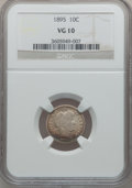 Barber Dimes: , 1895 10C VG10 NGC. NGC Census: (2/125). PCGS Population (13/178).Mintage: 690,000. Numismedia Wsl. Price for problem free ...