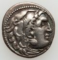 Ancients:Greek, Ancients: ANCIENT GREECE. Lot of two small silver coins.... (Total: 2 items)