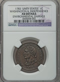 Colonials: , 1783 1C Washington Unity States Cent -- Environmental Damage -- NGCDetails. AU. NGC Census: (11/55). PCGS Population (42/8...