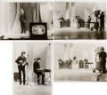 Music Memorabilia:Photos, Beatles Original Type 1 Photos From The Ed Sullivan Show(1965).... (Total: 4 Items)