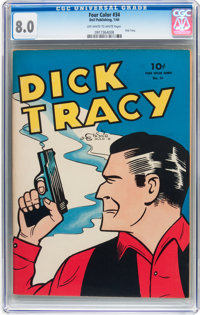 Four Color #34 Dick Tracy (Dell, 1944) CGC VF 8.0 Off-white to white pages