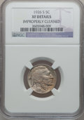 Buffalo Nickels: , 1926-S 5C -- Improperly Cleaned -- NGC Details. XF. NGC Census:(66/378). PCGS Population (95/480). Mintage: 970,000. Numis...