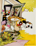 Memorabilia:Poster, Bill Watterson The Essential Calvin and Hobbes Poster(Universal Press Syndicate, 1988)....