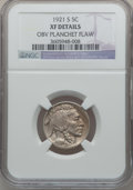 Buffalo Nickels, 1921-S 5C -- Obverse Planchet Flaw -- NGC Details. XF. NGC Census:(49/335). PCGS Population (60/518). Mintage: 1,557,000. ...