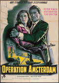 "Movie Posters:War, Operation Amsterdam (Rank, 1960). French Grande (44.5"" X 63"").War.. ..."