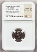 Ancients:Greek, Ancients: IONIAN ISLANDS. Chios. Ca. 435-425 BC. AR stater (7.69gm)....
