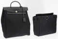 Luxury Accessories:Bags, Hermes Black Toile & Leather Herbag Backpack Bag. ... (Total: 2Items)