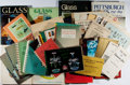 Books:Art & Architecture, [Glass Collectibles]. Lot of Thirty-Eight Books and Pamphlets Related to Glass Collectibles. [Various publishers, dates]. Ge... (Total: 38 Items)
