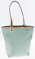 Luxury Accessories:Bags, Gucci Sea Blue Classic GG Metallic Tote Bag. ...