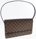 Luxury Accessories:Bags, Louis Vuitton Damier Ebene Canvas Tribeca Carre Shoulder Bag. ...