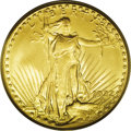 Saint-Gaudens Double Eagles: , 1932 $20 MS64 PCGS. This is the final collectible issue of theSaint-Gaudens double eagle series. Only a single 1933 double...