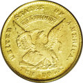 Territorial Gold: , 1852 $10 Humbert Ten Dollar XF45 PCGS. Ex: S.S. CentralAmerica. K-10, R.5. A lightly worn green-gold example with afe...