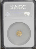 California Fractional Gold: , 1871 25C Liberty Octagonal 25 Cents, BG-765, R.3, MS62 NGC. Alustrous and lightly abraded yellow-gold example. The reverse...