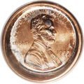 Errors: , 1999 1C Lincoln Cent--Deep Die Cap--MS65 Red PCGS. A lustrous Gem with predominant bright orange color on the obverse, alth...