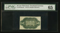 Fractional Currency:Third Issue, Fr. 1255SP 10¢ Third Issue Narrow Margin Back PMG Gem Uncirculated 65.. ...