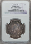 Bust Half Dollars, 1812 50C -- Obverse Scratched -- NGC Details. XF. NGC Census:(49/632). PCGS Population (111/613). Mintage: 1,628,059. Numi...
