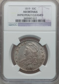 Bust Half Dollars: , 1819 50C -- Improperly Cleaned -- NGC Details. AU. NGC Census:(26/215). PCGS Population (56/187). Mintage: 2,208,000. Numi...