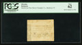 Colonial Notes:Connecticut, Hartford & New Haven Turnpike 1799 12¢ 5 mills PCGS New 62.....