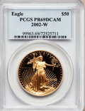 , 2002-W G$50 One-Ounce Gold Eagle PR69 Deep Cameo PCGS. PCGSPopulation (1088/163). NGC Census: (698/624). Numismedia Wsl. ...
