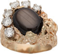 Music Memorabilia:Costumes, Elvis Presley Owned and Worn Star Sapphire and Diamonds Ring....