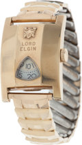 Music Memorabilia:Costumes, Elvis Presley Owned and Worn Lord Elgin Watch (Lord Elgin 21j, 1950s)....