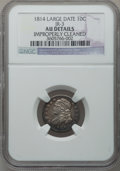 Bust Dimes: , 1814 10C Large Date -- Improperly Cleaned -- NGC Details. AU. JR-3.NGC Census: (4/132). PCGS Population (4/101). Mintage:...