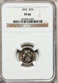 Proof Three Cent Nickels: , 1872 3CN PR66 NGC. NGC Census: (24/0). PCGS Population (18/0).Mintage: 950. Numismedia Wsl. Price for problem free NGC/PCG...