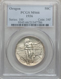 Commemorative Silver: , 1936 50C Oregon MS66 PCGS. PCGS Population (535/159). NGC Census:(512/139). Mintage: 10,006. Numismedia Wsl. Price for pro...