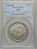 Commemorative Silver: , 1935 50C Arkansas MS65 PCGS. PCGS Population (500/168). NGC Census:(391/95). Mintage: 13,012. Numismedia Wsl. Price for pr...
