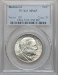 Commemorative Silver: , 1936 50C Robinson MS65 PCGS. PCGS Population (1051/468). NGCCensus: (779/232). Mintage: 25,265. Numismedia Wsl. Price for ...