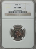 Indian Cents: , 1895 1C MS64 Brown NGC. NGC Census: (80/58). PCGS Population(58/13). Mintage: 38,343,636. Numismedia Wsl. Price for proble...