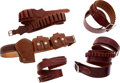 Arms Accessories:Holsters, Lot of Five Assorted Leather Belts.... (Total: 5 )