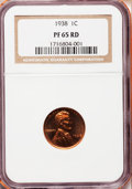 Proof Lincoln Cents: , 1938 1C PR65 Red NGC. NGC Census: (238/140). PCGS Population(536/266). Mintage: 14,734. Numismedia Wsl. Price for problem ...