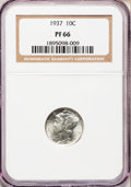 Proof Mercury Dimes: , 1937 10C PR66 NGC. NGC Census: (399/219). PCGS Population (495/214). Mintage: 5,756. Numismedia Wsl. Price for problem free...