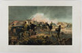 Books:Prints & Leaves, William Simpson. Nineteenth-Century Color Lithograph Entitled, AHot Night In the Batteries. Colnaghi, 1855. App...