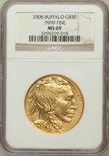 Modern Bullion Coins, 2008 $50 Buffalo MS69 NGC. Ex: .9999 Fine. NGC Census: (6981/7473).PCGS Population (1172/389). (#393327)...