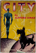 Books:Science Fiction & Fantasy, Clifford Simak. City. Gnome, 1952. First edition, first printing. Signed by Frank Kelly Freas, dj illustrator, on ...