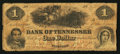 Obsoletes By State:Tennessee, Nashville, TN- Bank of Tennessee $1 Jan. 1, 1861. ...