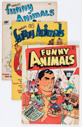 Golden Age (1938-1955):Funny Animal, Funny Animals Group (Fawcett Publications, 1942-48) Condition:Average VG.... (Total: 5 Comic Books)