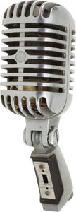 Music Memorabilia:Memorabilia, Elvis Presley And Other Stars Used KWKH Shure Microphone(1955-1975)....