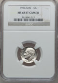 SMS Roosevelt Dimes, 1966 10C SMS MS68 Full Torch Cameo NGC. NGC Census: (1/0). ...