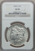 Morgan Dollars: , 1894-O $1 AU58 NGC. NGC Census: (737/952). PCGS Population(475/1142). Mintage: 1,723,000. Numismedia Wsl. Price for proble...