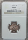 Barber Dimes: , 1900-S 10C MS62 NGC. NGC Census: (15/59). PCGS Population (24/78).Mintage: 5,168,270. Numismedia Wsl. Price for problem fr...